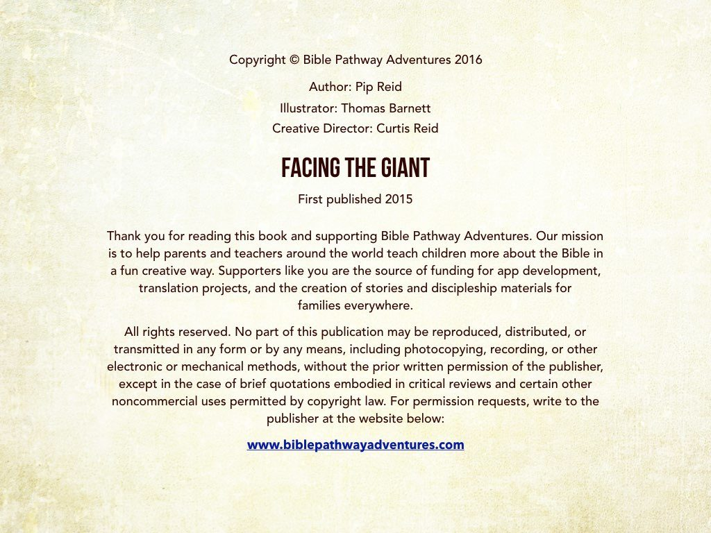 Facing The Giant Bible Pathway Adventures