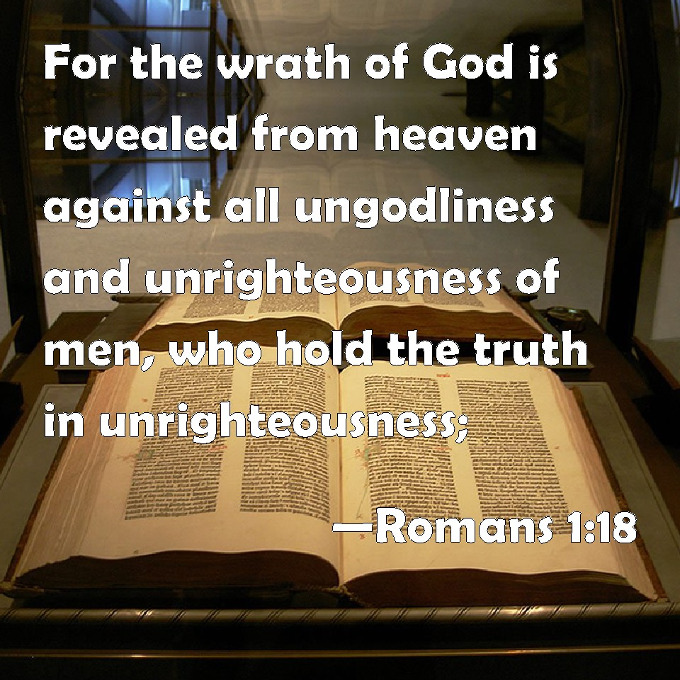 Image result for romans 1:18 pics