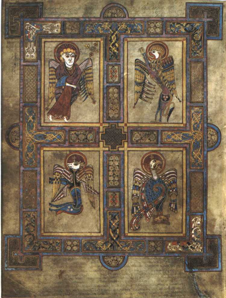 Book of Kells, Four Evangelists, about A.D. 800
