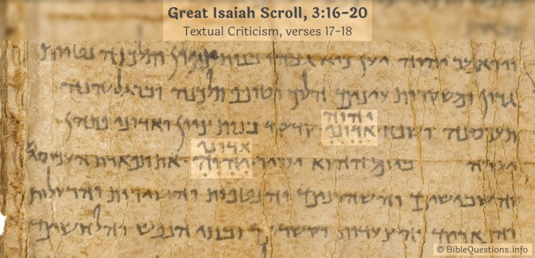 Textual Criticism in Great Isaiah Scroll 1QIs(a), 3:17-18
