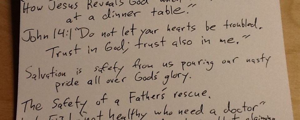 Sermon Notes from 10/14 at CFC