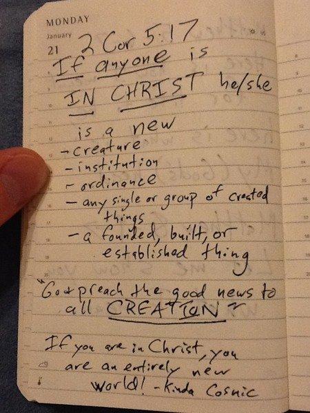2 Corinthians 5:17 notes