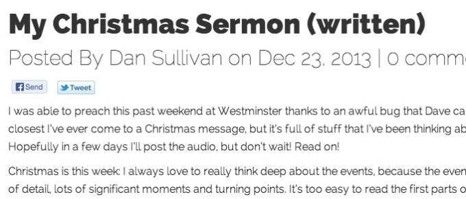 My Christmas Sermon (written)