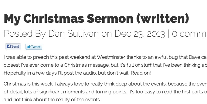 My Christmas Sermon (written)