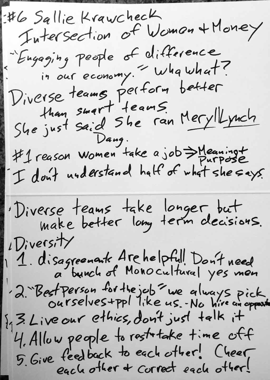 Sallie Krawcheck notes