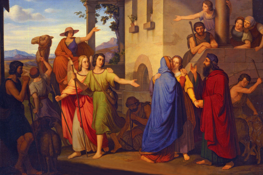 Clemens von Zimmermann - Farewell of Young Tobias and Sara from her Parents, Pinakothek, Munich, Germany, 1837.