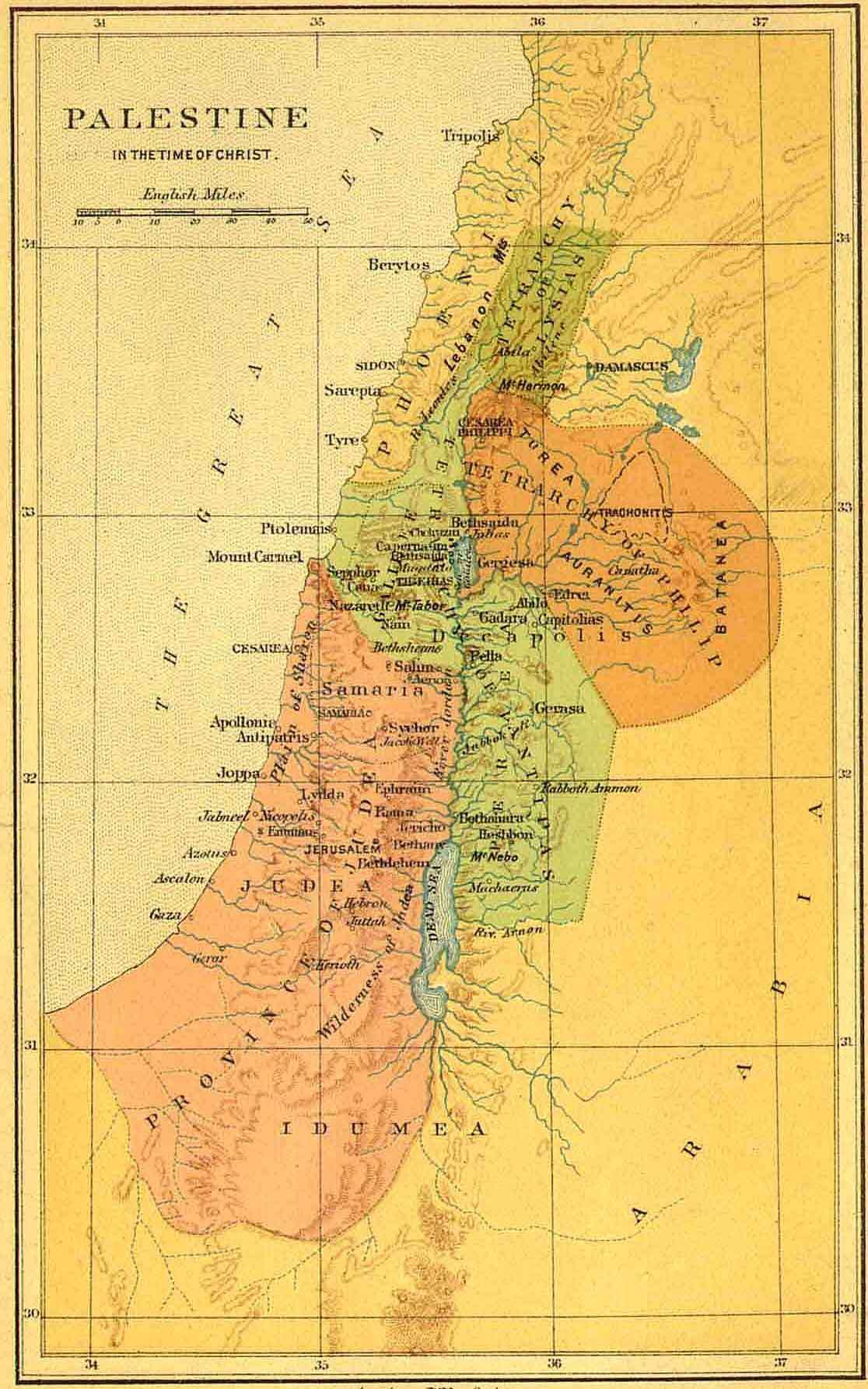 Bible Maps From The Israelites To Present Time