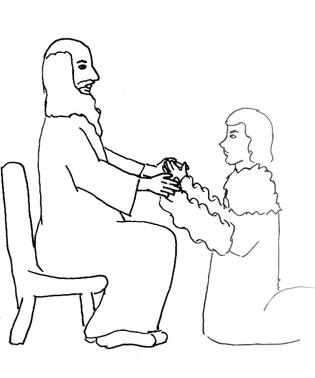 Free esau bible story coloring pages