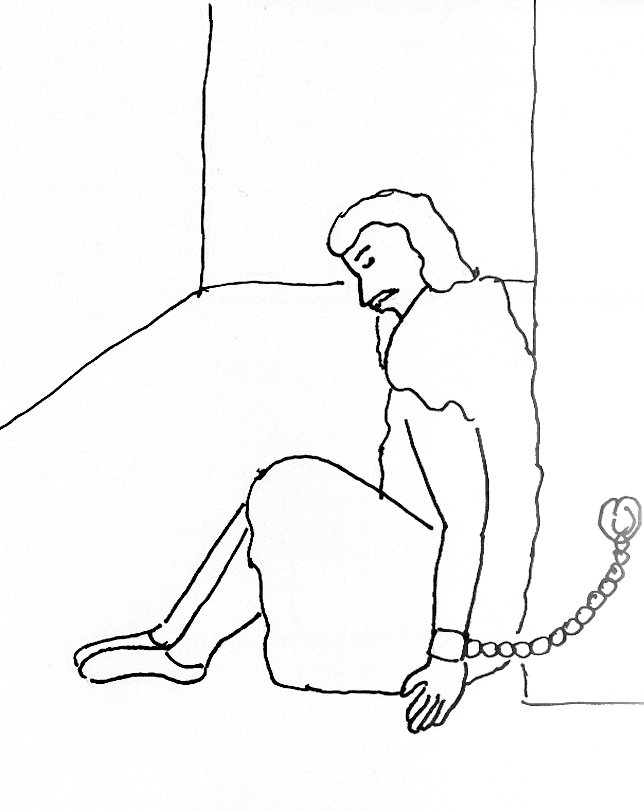 Bible Story Coloring Page for John the Baptist in Prison