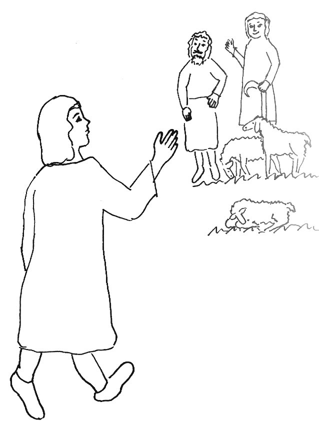 Bible Story Coloring Page for Joseph and His Brothers