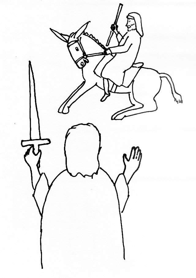 Free coloring pages of balaam's donkey