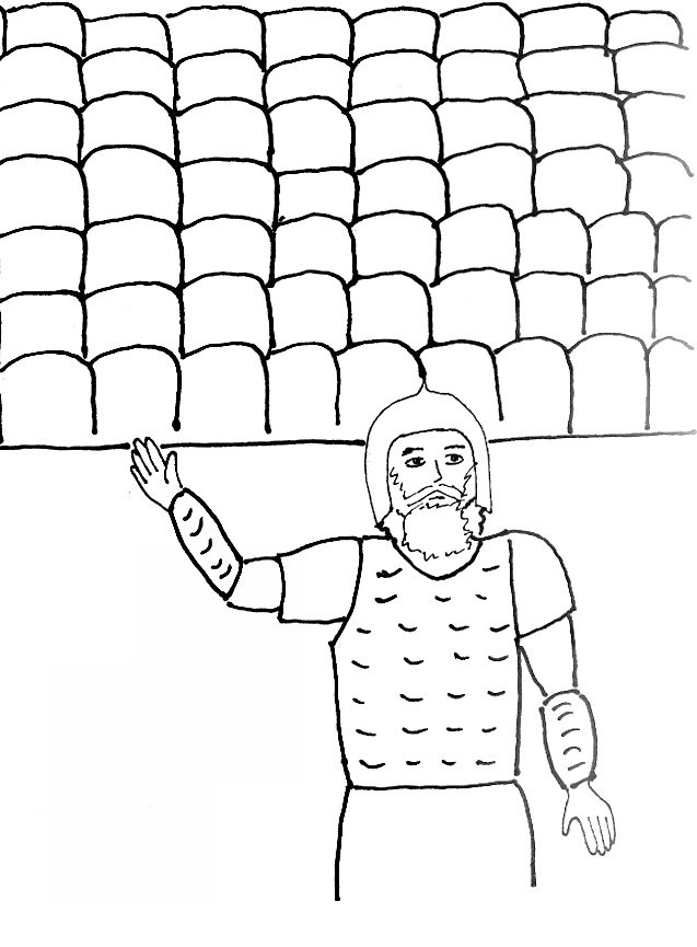 Bible Story Coloring Page for Joshua and the fall of