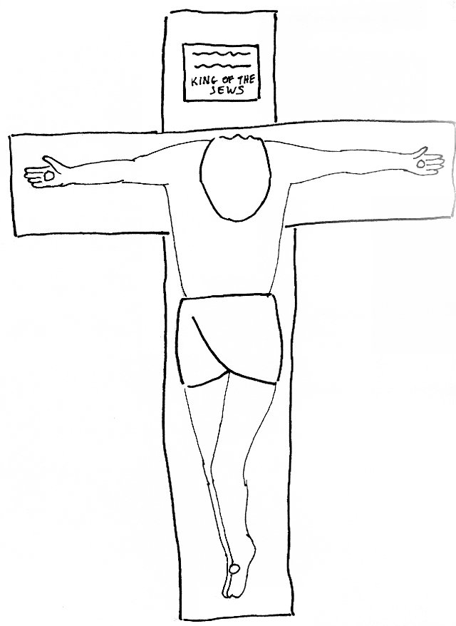 Bible Story Coloring Page for The Crucifixion of the Lord