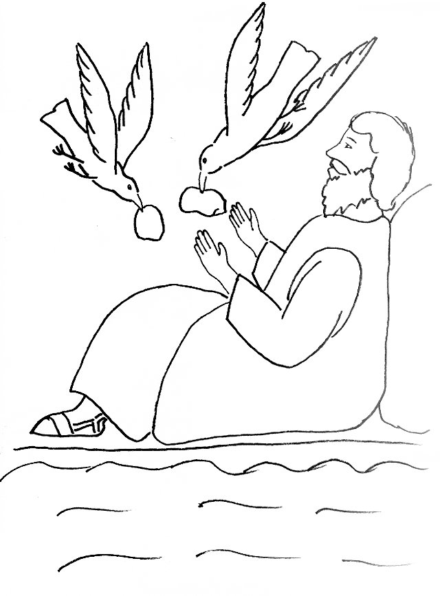 Bible Story Coloring Page for Elijah and the Widow of
