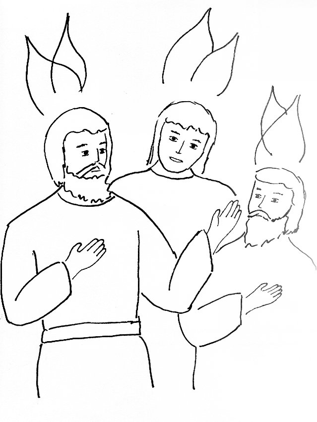 Bible Story Coloring Page for the Holy Spirit Comes
