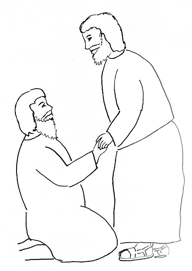 Free coloring pages of paul healing crippled man