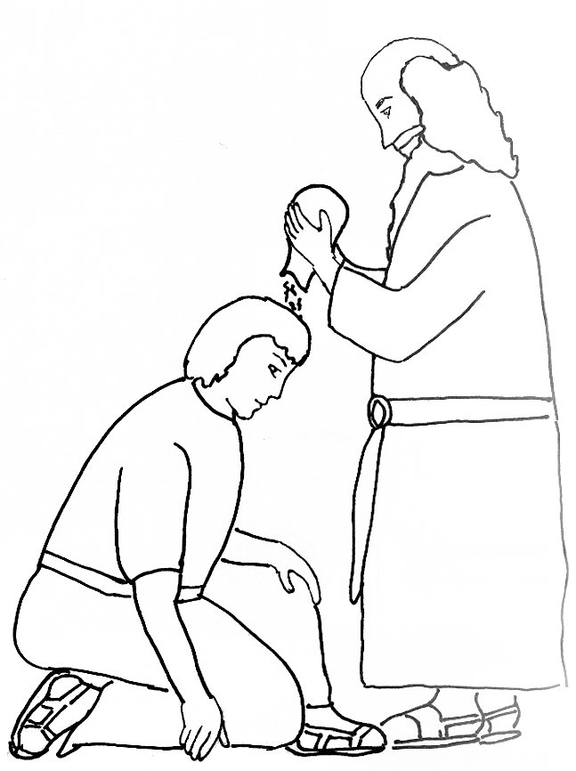 Bible Story Coloring Page for Samuel Anoints King Saul