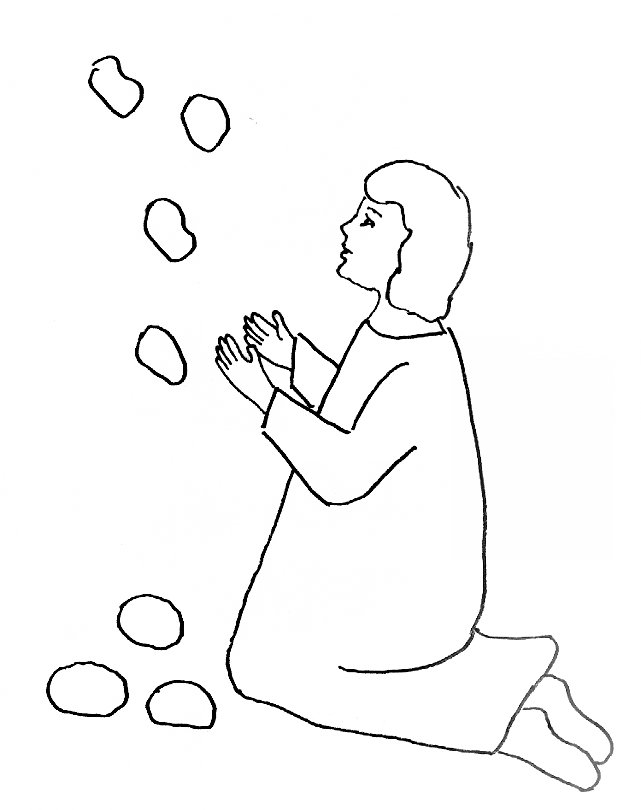 Bible Story Coloring Page for Stephen