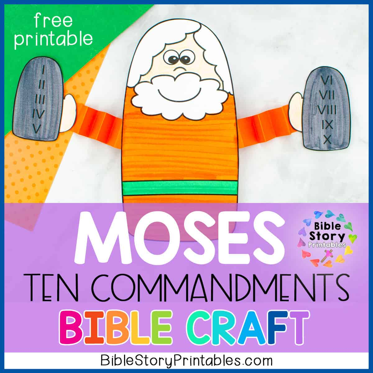 Ten Commandments Bible Craft