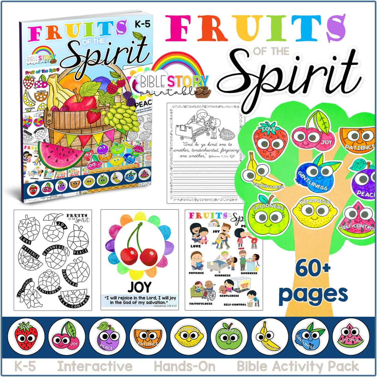 Fruitofthespiritworksheets