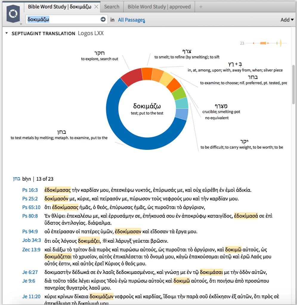 Logos Bible Software - Bible Word Study Guide: Septuagint Report