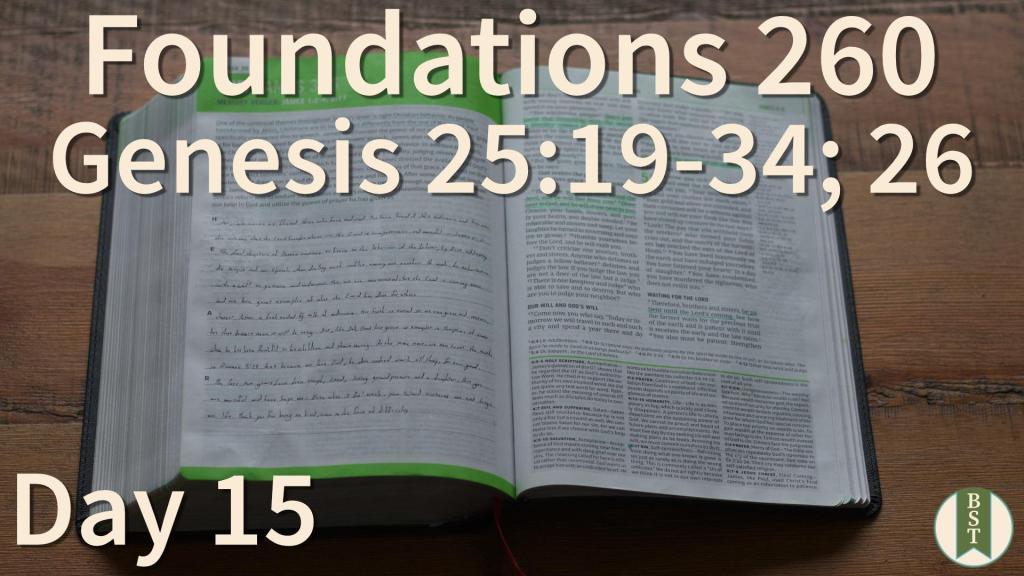 F260 Bible Reading Plan - Day 15