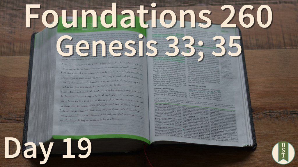 F260 Bible Reading Plan - Day 19