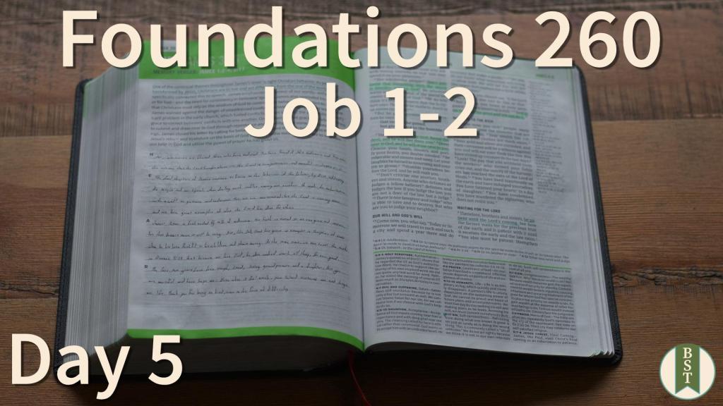 F260 Bible Reading Plan - Day 5