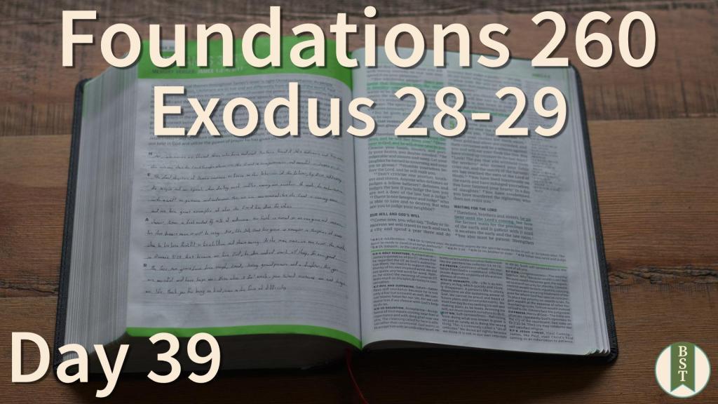 F260 Bible Reading Plan - Day 39