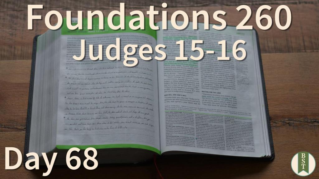 F260 Bible Reading Plan - Day 68
