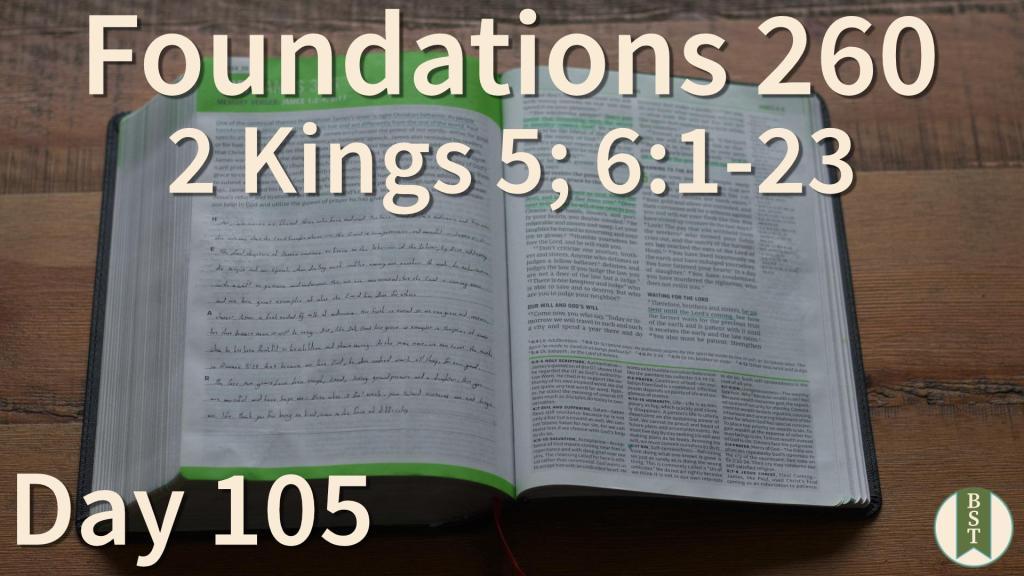 F260 Bible Reading Plan - Day 105