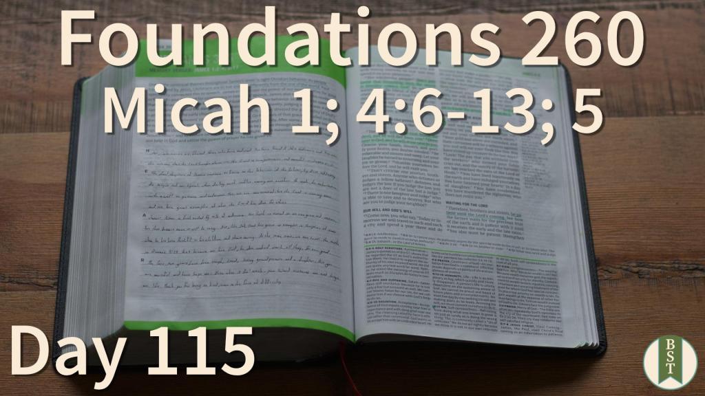 F260 Bible Reading Plan - Day 115