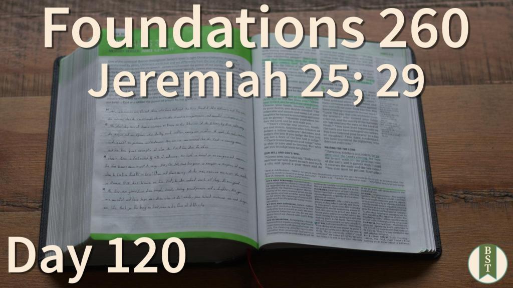 F260 Bible Reading Plan - Day 120