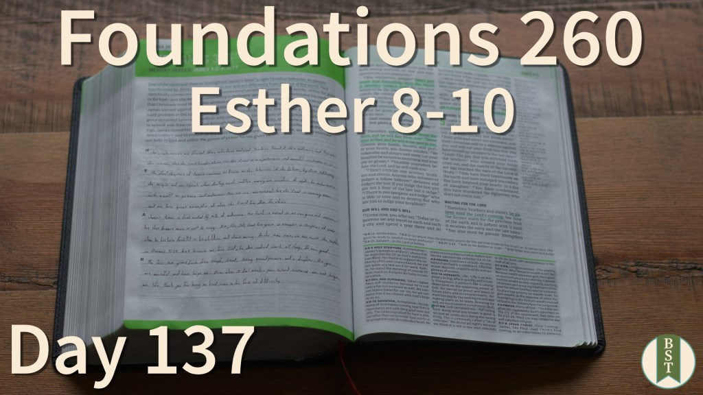F260 Bible Reading Plan - Day 137