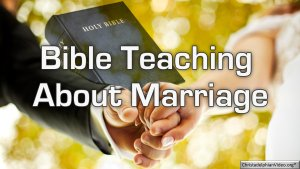 BASIC BIBLE PRINCIPLES: Marriage - 'ONLY IN THE LORD'