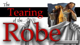 The Tearing of the Robe -Rugby Christadelphian Video post