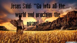 Jesus Said: Go into all the world and proclaim the gospel  Video Post