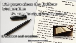 Israel, the Balfour Declaration and the Bible - 2 Part Video Bible Study