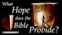 What hope does the Bible Provide? Video post