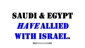 Saudi, Egypt and others allied with Israel - What does this mean? Video post