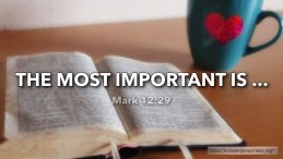 "Thought for February 16th. ""THE MOST IMPORTANT IS.."""