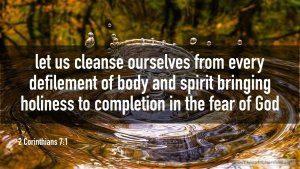 "Thought for March 6th. ""LET US CLEANSE OURSELVES FROM …"""