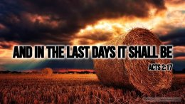 """Thought for April 26th. """"AND IN THE LAST DAYS IT SHALL BE …"""""""