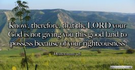 """Thought for April 24th. """"KNOW THEREFORE THAT THE LORD IS NOT … """""""