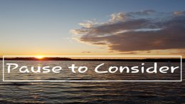 Introduction to new 'Pause to Consider' Video Podcast