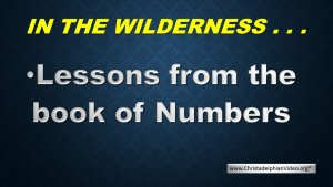 Big Lessons From Numbers - The book of Numbers is not really about numbers...