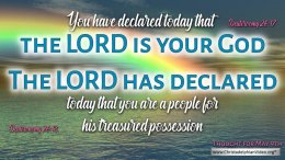 """Daily Readings & Thought for May 9th. """"YOU HAVE DECLARED …. THE LORD HAS DECLARED"""""""