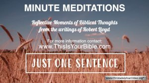 Minute Meditation Video Episode: Just one sentence!