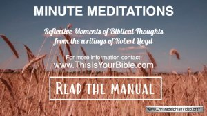 Minute Meditation Video Episode: Read the Manual