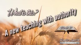 """Daily Readings & Thought for August 6th """"A NEW TEACHING WITH AUTHORITY"""""""